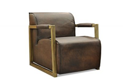 Lounge Sessel Leder Buffalo