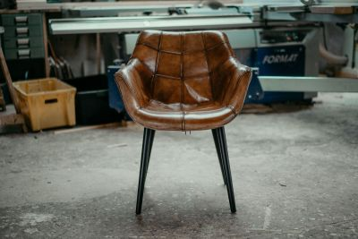 Shell Chair Leder