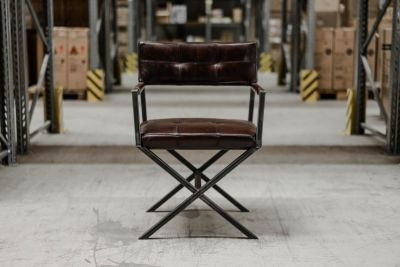 Regiestuhl Leder Industriedesign Rich Brown 27B.