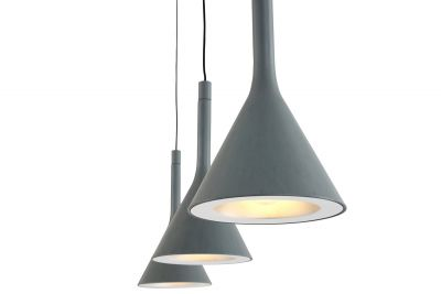 Design Deckenlampe aus Metall in Beton Optik gefertigt.